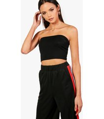tall jersey bandeau top, zwart