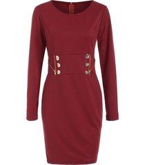 long sleeve zipper mini dress