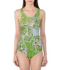 animal kingdom map disney women's swimsuit