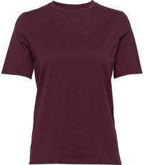 w super tee t-shirts & tops short-sleeved röd peak performance