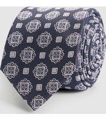 reiss bert - silk patterned tie in charcoal, mens