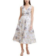 eliza j printed midi dress