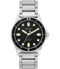 skagen men's fisk stainless steel bracelet watch 42mm
