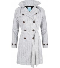 happyrainydays regenjas trenchcoat bodille stripes off white black-l