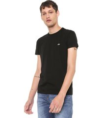 camiseta lacoste gola redonda preta - preto - masculino - algodã£o - dafiti
