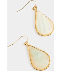 tiffany stone teardrop earrings - mint