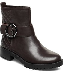 hadasa/stivaletto /lea shoes boots ankle boots ankle boots flat heel brun guess