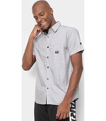 camisa manga curta starter black label poá masculina