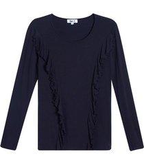 camiseta mujer arandela en frente color negro, talla 8