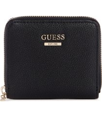 guess sandrine small zip around wallet