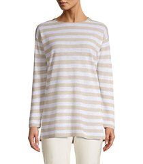 striped organic linen & cotton tunic