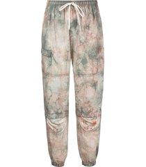 john elliott lightweight silk-blend track trousers - white
