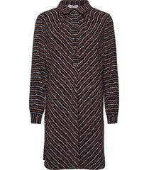 editha-blue haze print kort klänning multi/mönstrad hofmann copenhagen