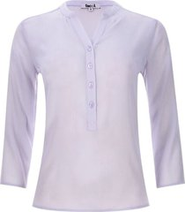 blusa unicolor translucida