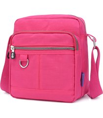 donna impermeabile borsa card slot nylon crossbody borsa