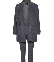 dkny all about layers l/s cozy & legging pyjama grijs dkny homewear