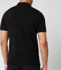 kenzo men's tiger crest polo shirt - black - m