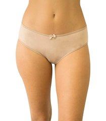 calcinha monica qtal lingerie básico bege