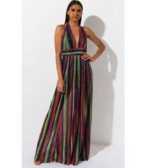 akira be like me multi color maxi dress