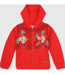 chaqueta rojo-multicolor boboli