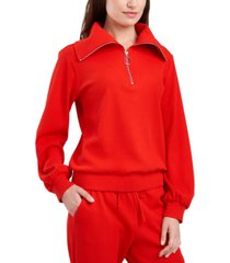 riley & rae gia funnel-neck waffle-knit sweater, created for macy's