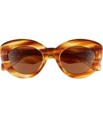 women's loewe 50mm round sunglasses - blonde havana/ brown