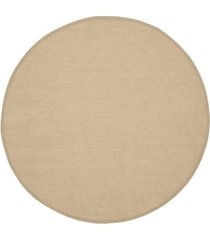 safavieh natural fiber maize and linen 10' x 10' sisal weave round area rug
