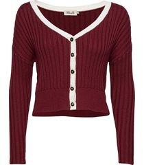 carleigh stickad tröja cardigan röd baum und pferdgarten