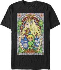 nintendo men's legend of zelda wind waker link regal glass short sleeve t-shirt