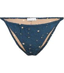 fleur du mal string cheeky bikini bottom - blue