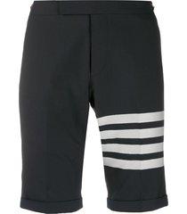 thom browne 4-bar navy low rise shorts - blue