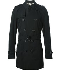 burberry the kensington - mid-lenght trench coat - black
