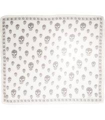 women's alexander mcqueen skull foulard silk scarf