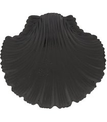 atu body couture oversized shell earrings - black
