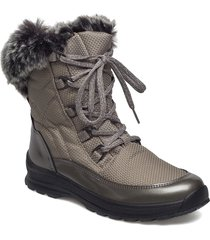 warm boot shoes boots ankle boots ankle boots flat heel grå ilse jacobsen