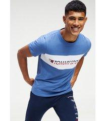 polera t-shirt logo driver azul tommy sport