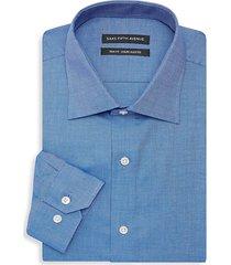 trim-fit chambray dress shirt