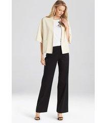 natori faux leather cropped kimono coat, women's, candle light, size s natori