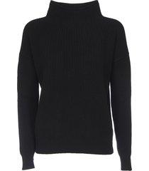 turtleneck pullover in black