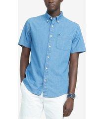 tommy hilfiger men's custom-fit benny twill shirt