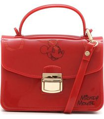 mini bolsa luxcel transversal mickey vermelha