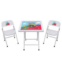 conjunto fantasia mesa c/2 cadeiras branco/escola açomix