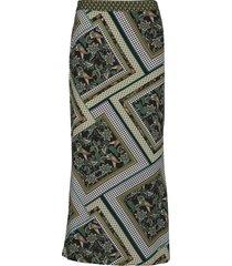 pzlemon skirt knälång kjol grön pulz jeans