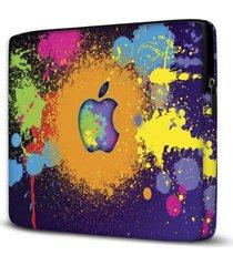 capa para notebook isoprene colorido 15 polegadas com bolso - unissex