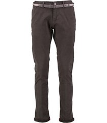 no excess dark army stretch chino met riem