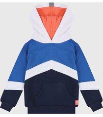 buzo azul-blanco-naranja boboli