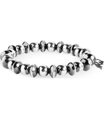 american west by carolyn pollack sterling silver beaded stretch bracelet