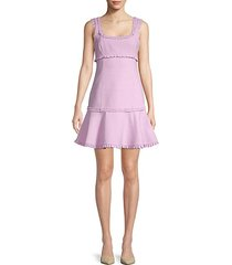 ruffled a-line mini dress