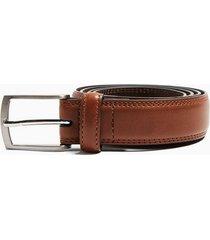 mens brown tan smart leather belt