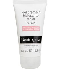 gel creme hidratante facial neutrogena oil free para pele mista a oleosa 50ml - tricae